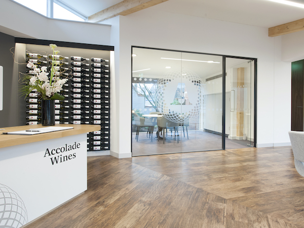 Accolade Wines reception painted in white