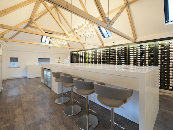 Accolade Wines tasting room painted in white paint