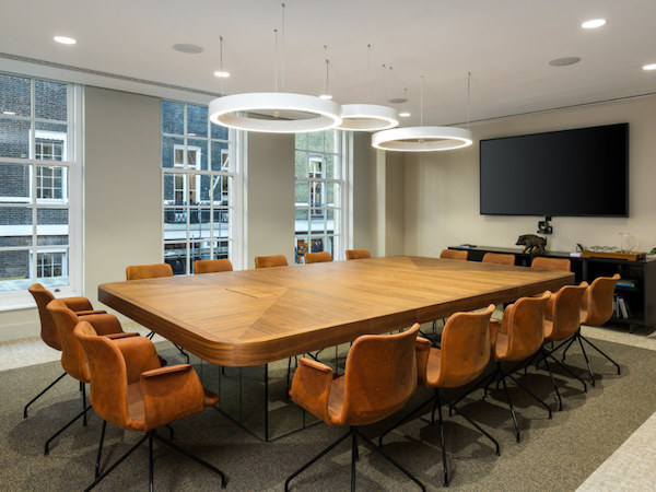 LJ Partnership large meeting room painted in white