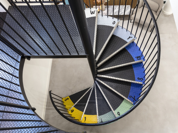 Workstories spiral staircase