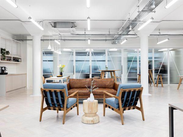 Workstories meeting room painted in white